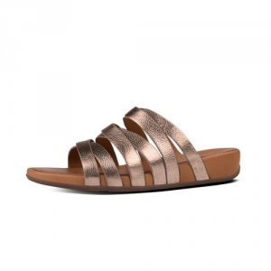 LUMY LEATHER SLIDE BRONZE E62-012 SS17 3Q sRGB