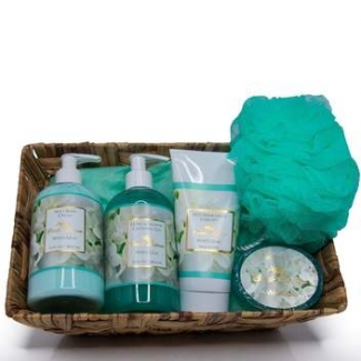 Essentials Gift Basket White Lilac
